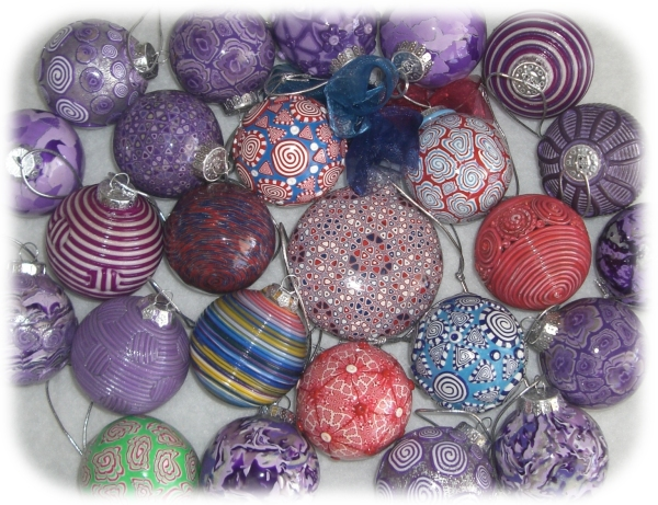 Polymer clay - Christmas tree ornaments